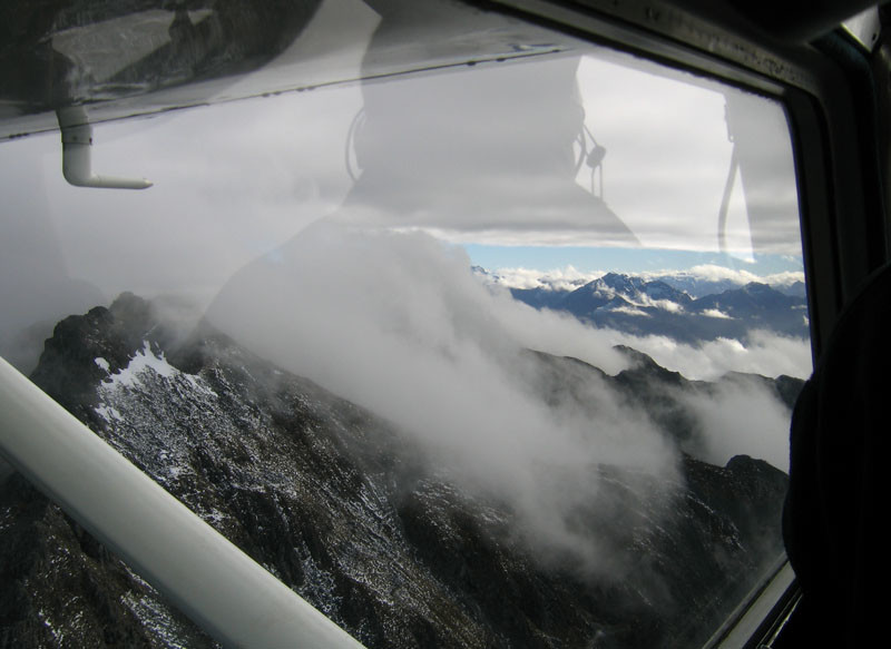 Flying over Fiordland