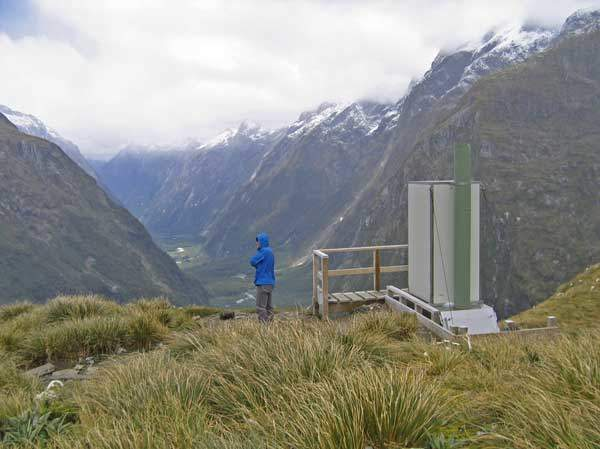 The loo with a view, Mackinnon Pass.