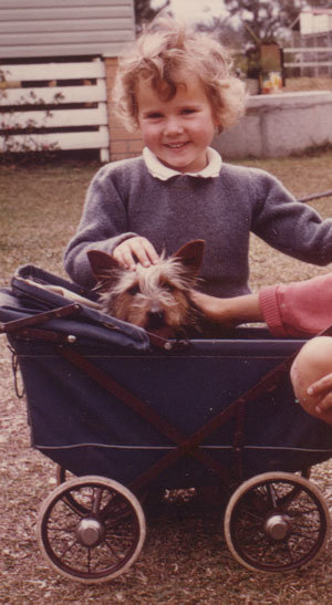 Belinda, aged four, already showing strong aptitude in pet care. *cough*